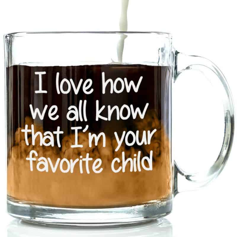 Funny Favorite Child coffee mug is a great last minute Mother's Day gift!