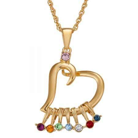 Grandma Birthstone Necklace