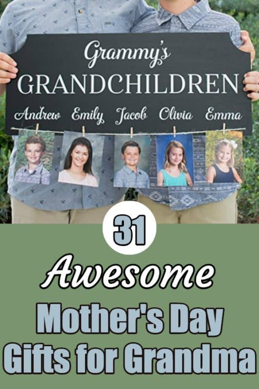 Looking for cute Mother's Day gifts for Grandma?  Click through to see 30+ Mother's Day gift ideas that grandmothers adore!  #mothersdaygift #mothersday #grandmalife #giftsforher