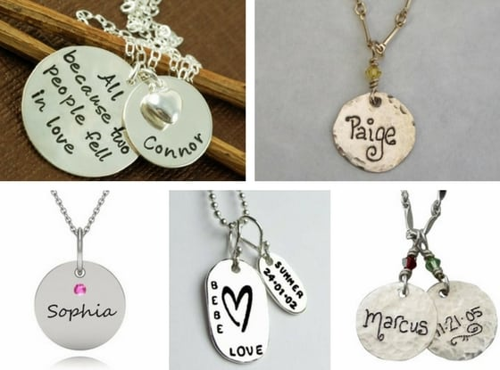 First Mother's Day necklace - Thrill the new mom on her 1st Mother's Day with a personalized necklace with all the baby birth details