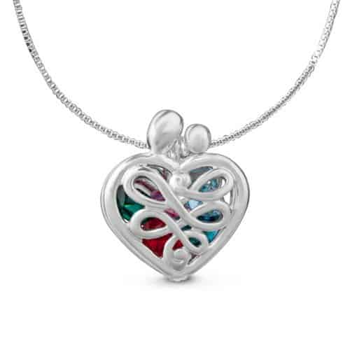 Mother's Heart Birthstone Locket