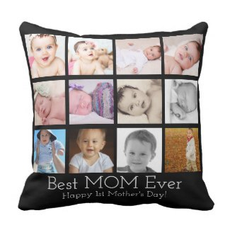 1st Mother's Day Photo Pillow