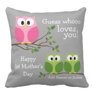 Personalized 1st Mother's Day Pillow