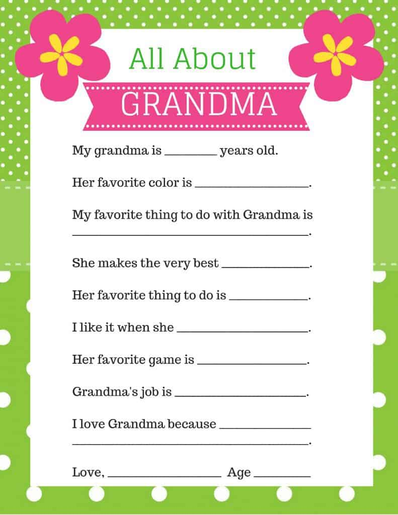 photo about All About My Grandma Printable titled Moms Working day Presents for Grandma 2018 - Final 20 Present Options