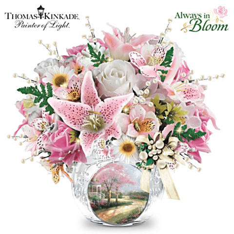 Skip the high-priced flowers from the florist this Mother's Day!  Instead, treat Mom or Grandma to an illuminated centerpiece that will brighten her home long after the holiday is over!