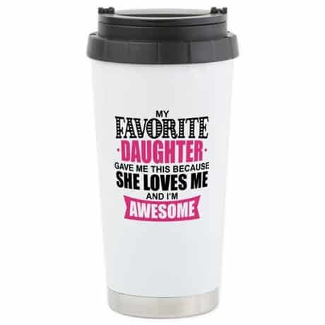 Funny coffee mug is the perfect little Mother's Day gift for Mom...one that will make your siblings totally jealous! #mothersdaygift #giftsforher #coffeemug