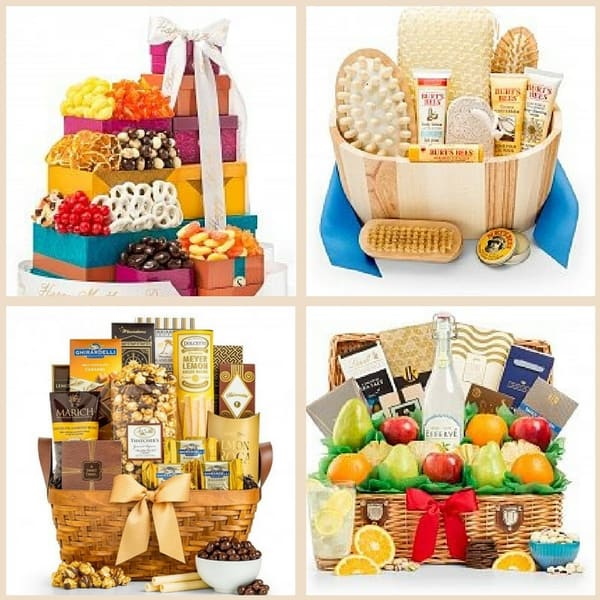 Treat Mom to  a delightful Mother's Day gift basket this year. Click to see over 200 Mother's Day gift baskets and towers - starting at under $25!  #mothersdaygift #mothersday