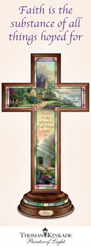 Inspire Grandma with this colorfully illuminated Thomas Kinkade cross.  The perfect home accent to brighten her day!  #mothersdaygift #giftsforher