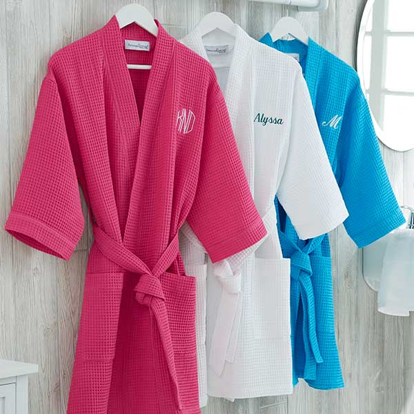 Personalized Robe - Matching Slippers & Cosmetic Bag Available