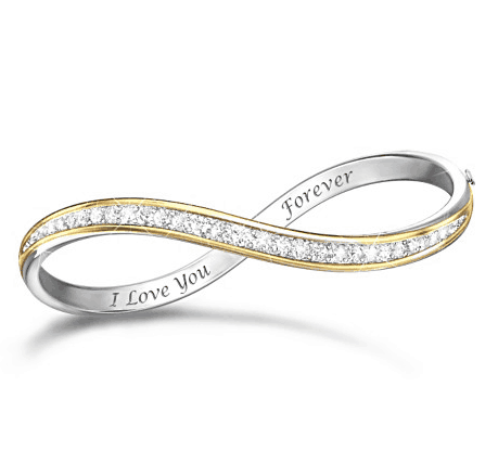 I Love You Forever Diamond Infinity Bracelet