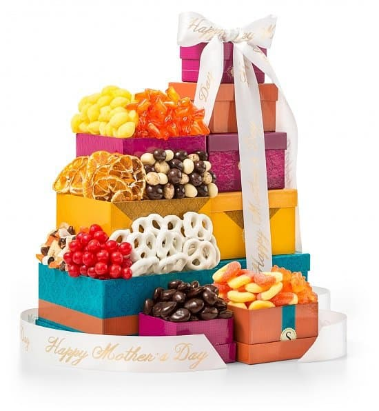 Chocolate and Sweets Mother's Day Gift Tower