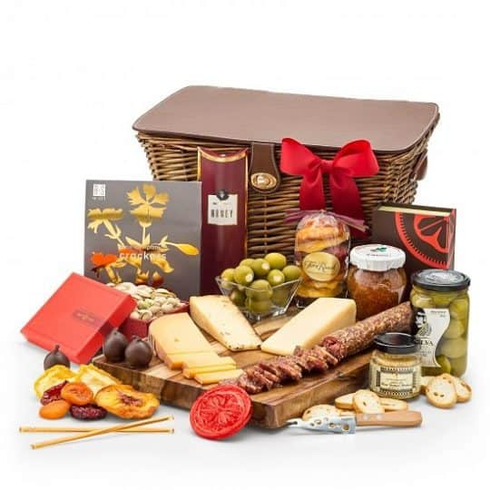 Cheese Gift Baskets - Looking for an impressive gift basket for the cheese lover? Impress them with this premium cheese hamper that features a fabulous selection of handcrafted cheese from around the world!